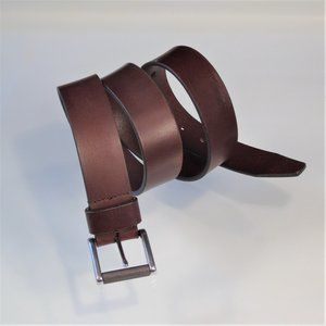 Nordstrom 1901 Leather Roller-Buckle Casual Belt